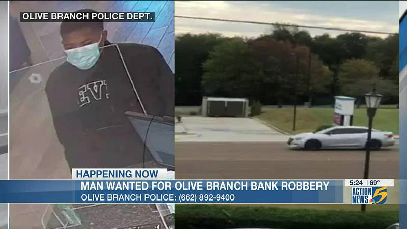 Suspect wanted for armed robbery at bank in Olive Branch