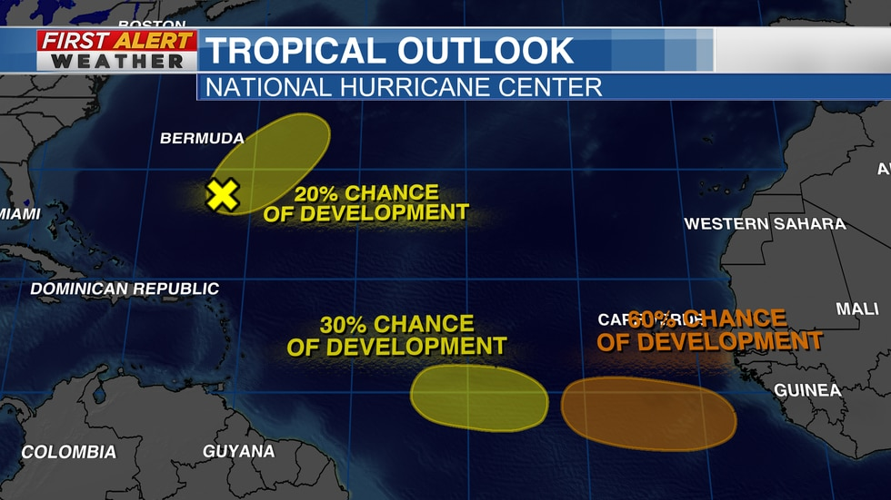 Tropical Outlook from the NHC as of 9:30 AM CT Sunday, September 26, 2021