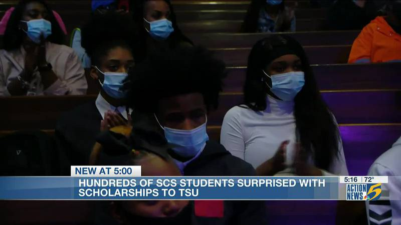 Hundreds of Shelby County Schools students surprised with scholarships to TSU