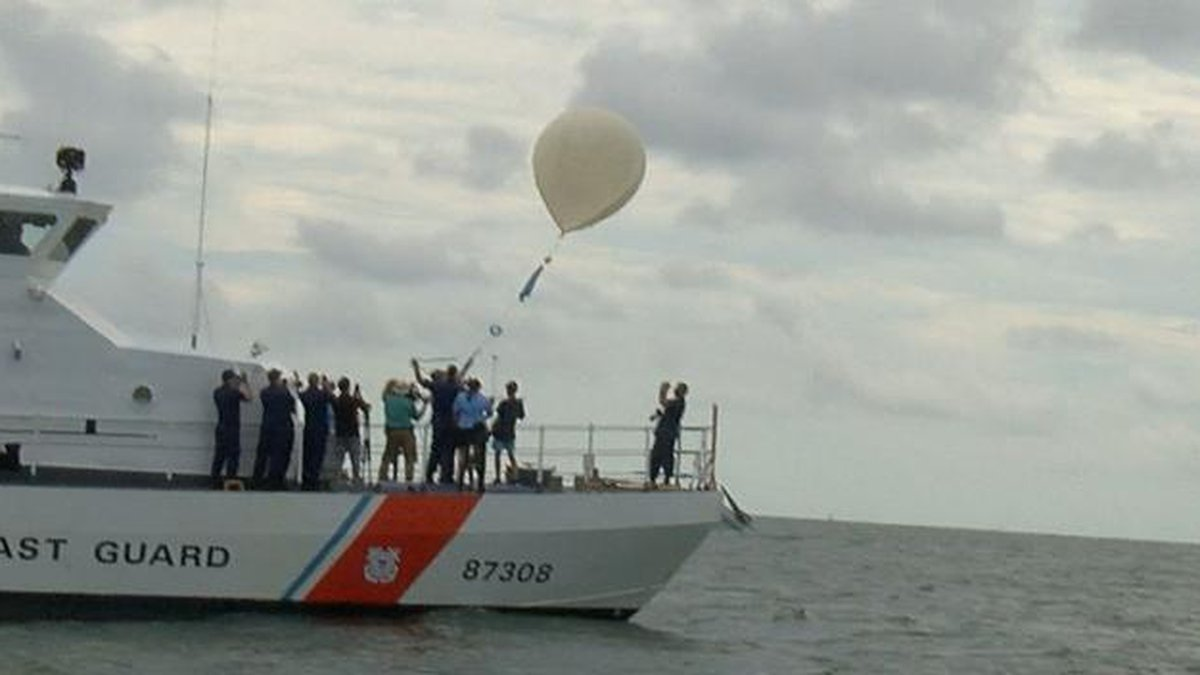 CofC students launch weather balloons to livestream eclipse. (Source: Live 5 News)