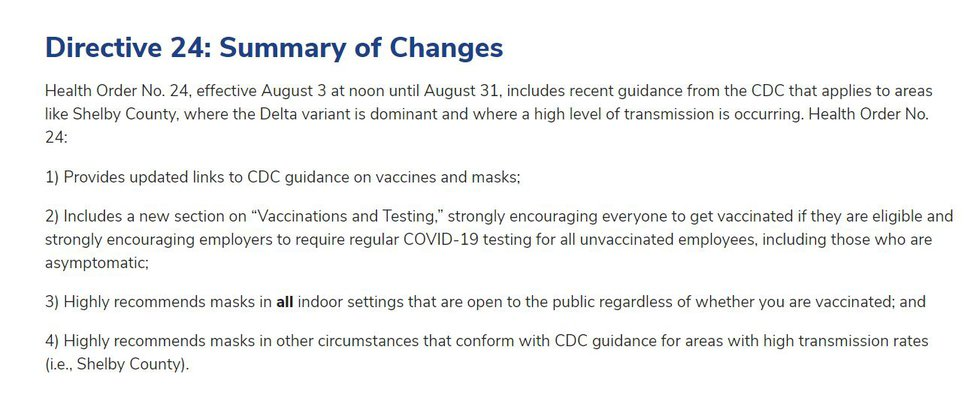 SCHD Health Directive
