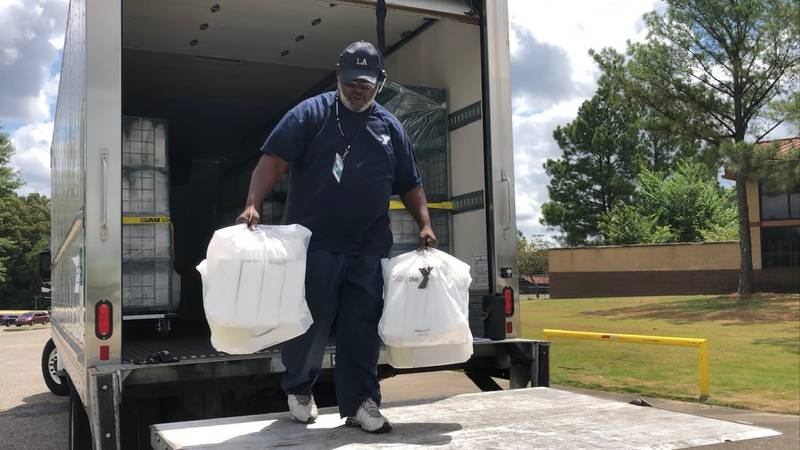 The YMCA summer food program provides free 7-day meal packs to children in Memphis.