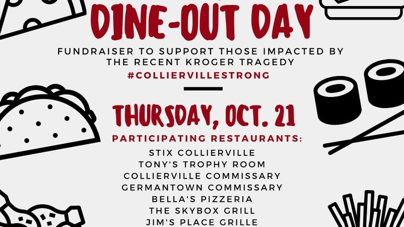 11 Collierville restaurants will donate 10% of sales collected on Thursday to those impacted by...