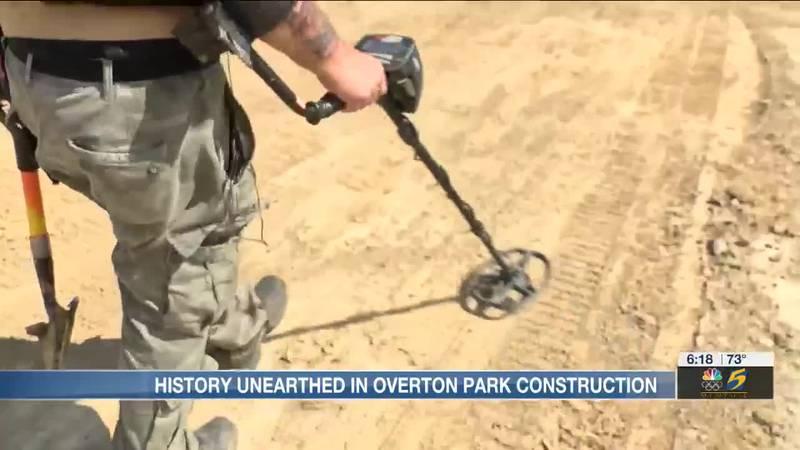 Metal detector at Overton Park