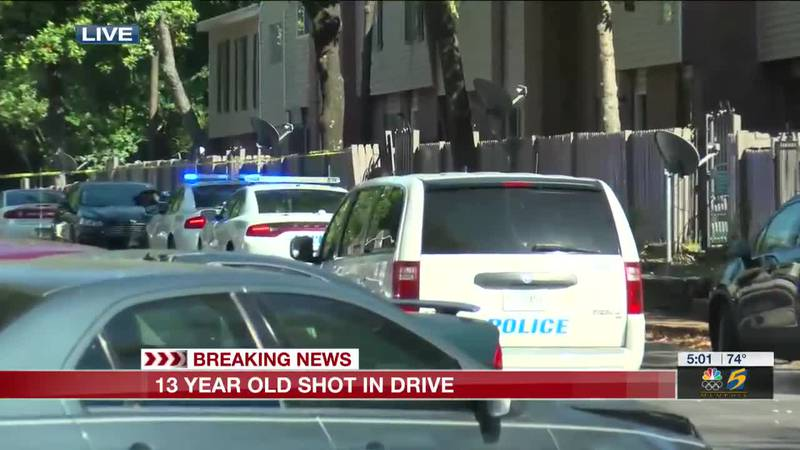 13-year-old shot in drive-by
