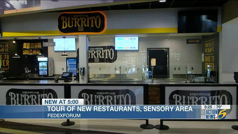 New restaurants, sensory area offered at FedExForum