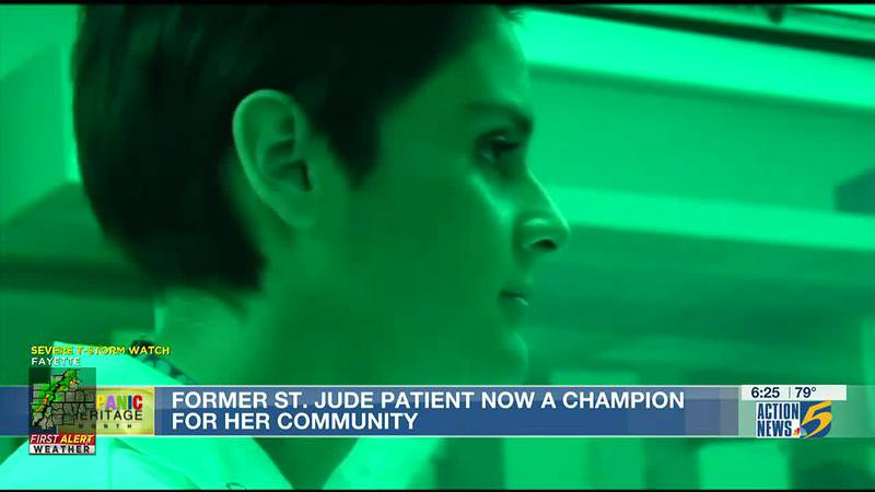 Former St. Jude patient now a champion for her community
