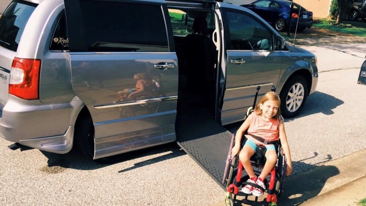 Woman's wheelchair van stolen from driveway with daughter's wheelchair inside