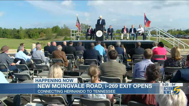 Ribbon cutting held for newly realigned McIngvale Road, I-269 exit