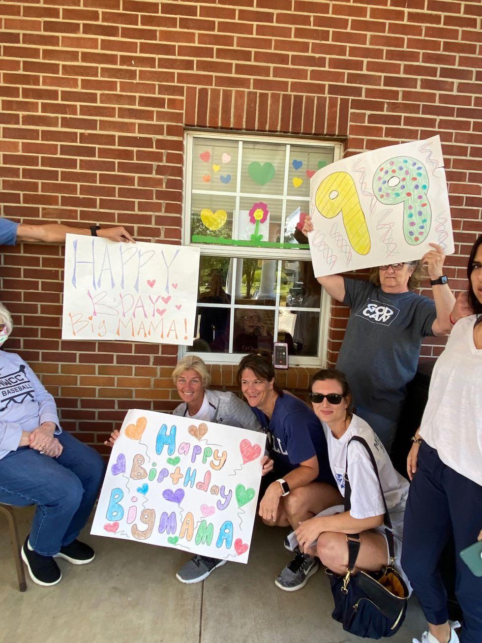 Family celebrates grandmother's 99th birthday through facility window