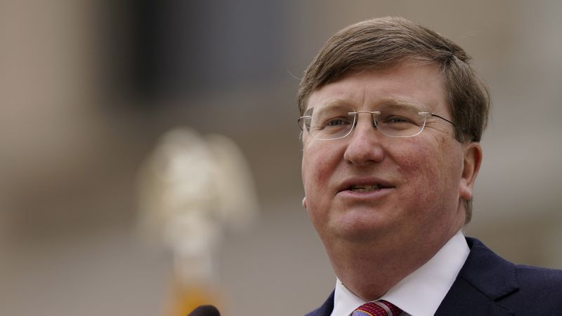 Mississippi Republican Gov. Tate Reeves speaks about his policy priorities and the state's...