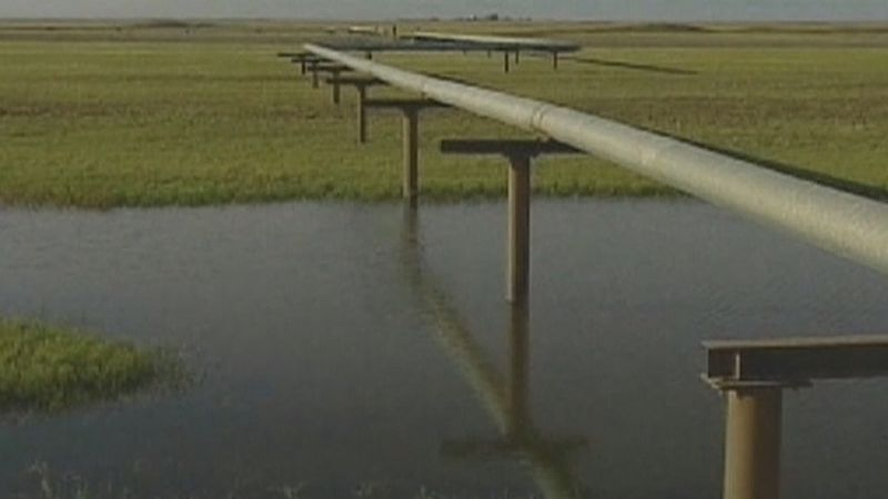 The 1,700-mile pipeline was planned to carry roughly 800,000 barrels of oil a day from Alberta...