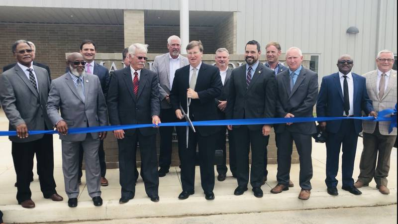 Mississippi Gov. Tate Reeves leads ribbon cutting for new Marshall County Workforce Training...