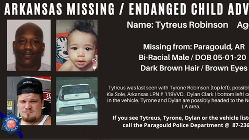 Arkansas State Police have issued a child advisory for a missing one-year-old.