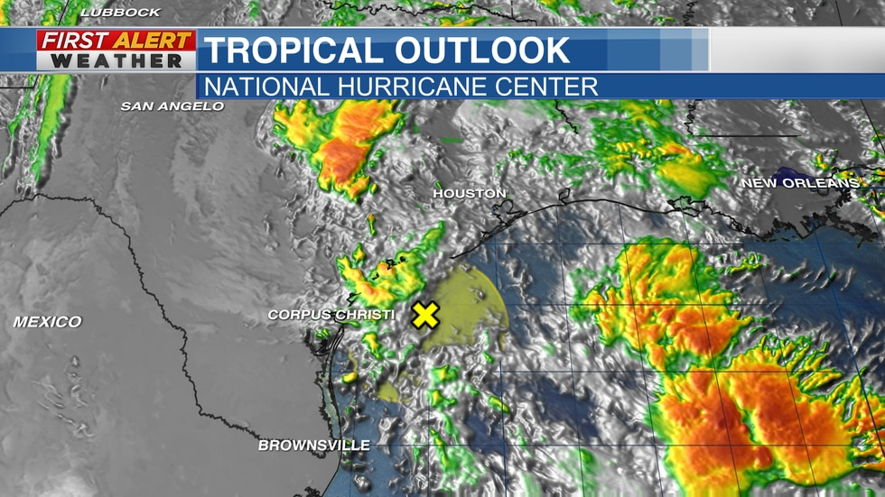Disturbance moves inland bringing the threat for heavy rain for portions of Texas and Louisiana