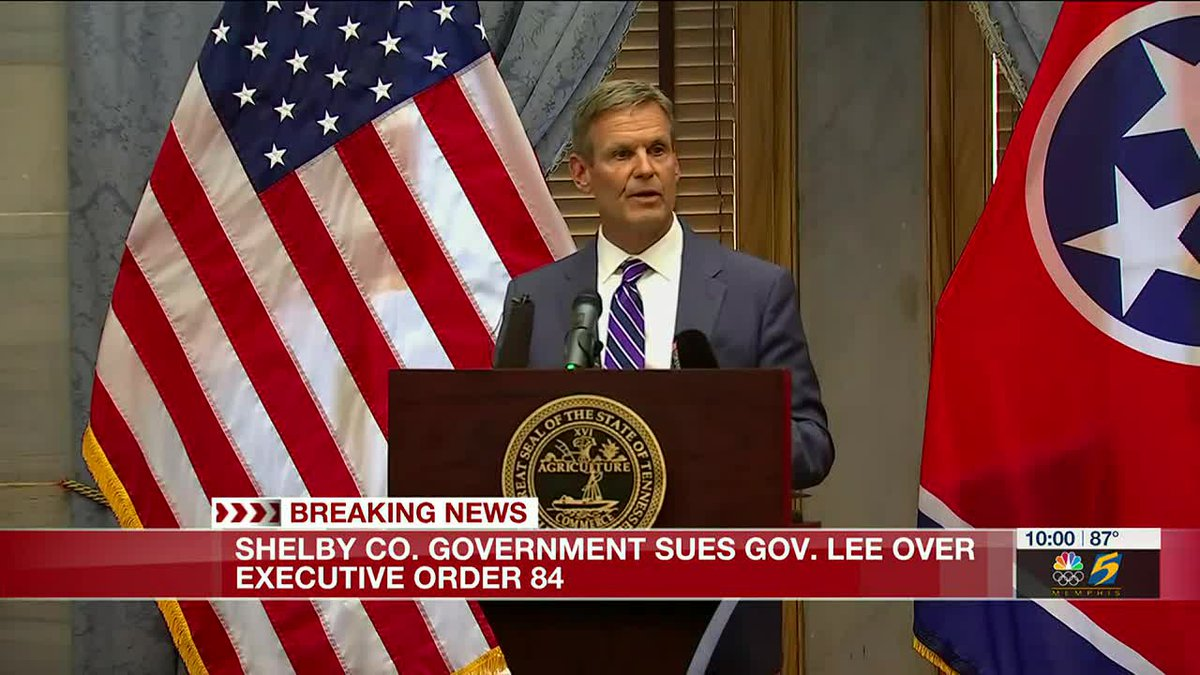 Shelby County Government files lawsuit against Gov. Bill Lee over executive order