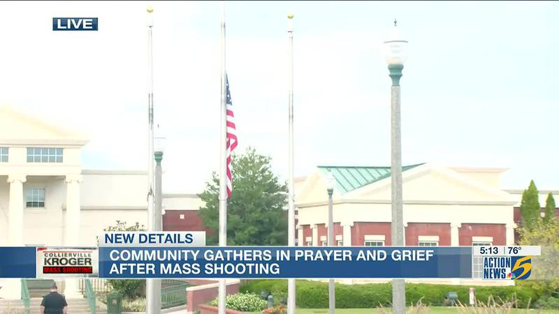 Town of Collierville holds prayer vigil for mass shooting victims