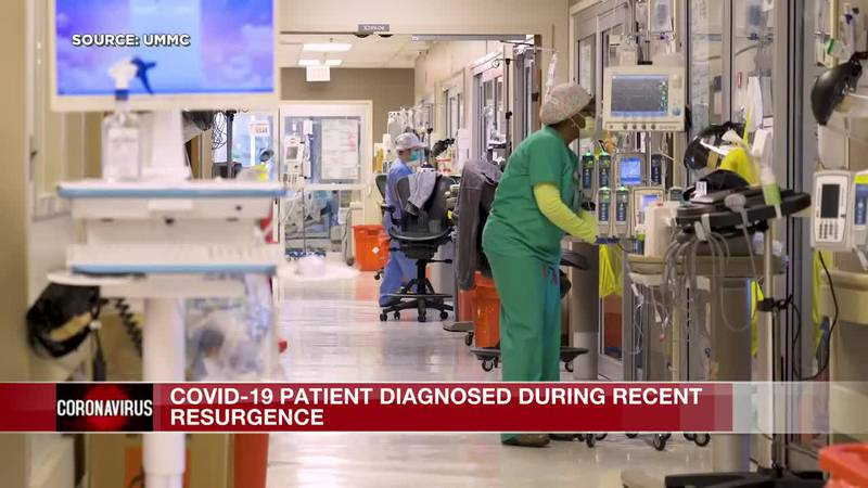 Hospitalized COVID-19 patient speaks out about recent virus resurgence in Mississippi