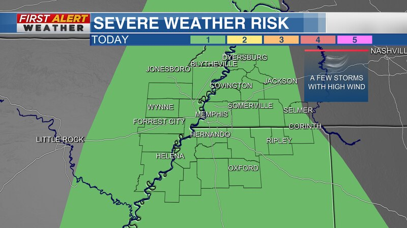Marginal Risk for severe weather Saturday, June 12, 2021