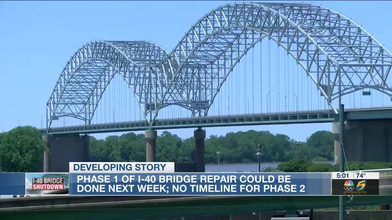 Phase 1 of I-40 bridge repair could be done next week