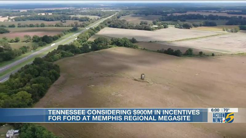 Tennessee considering $900M in incentives for Ford at Memphis Regional Megasite