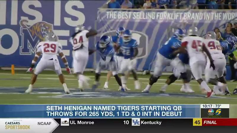 Seth Henigan makes Tigers history in first start as Memphis quarterback