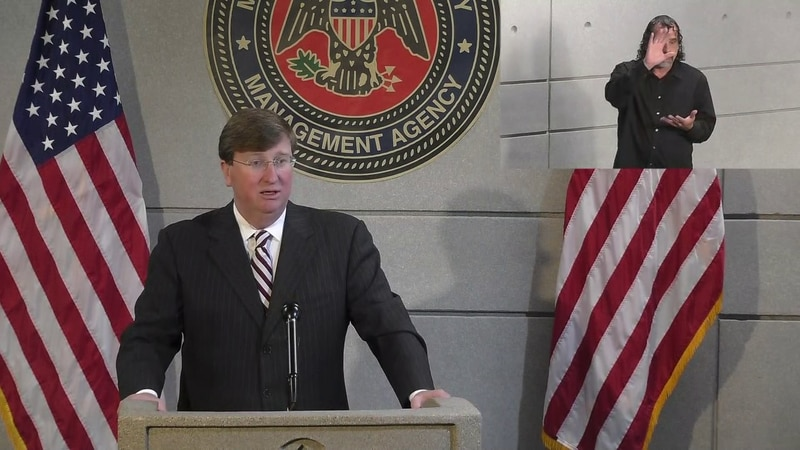 Governor Tate Reeves gives an update on Hurricane Delta's status.