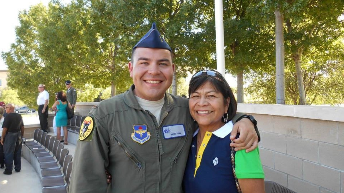Olivia King, pictured here with her son Major Greg King of the U.S. Air Force, was killed in a...