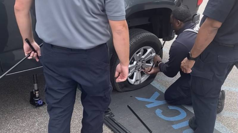 First responders help flix a flat
