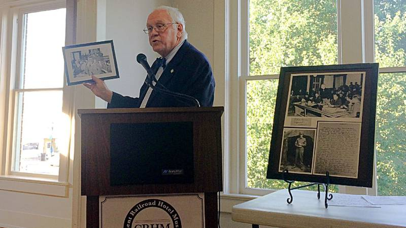 Douglas T. Bates III will present the letters from his father, who defended Nazi soldiers in...