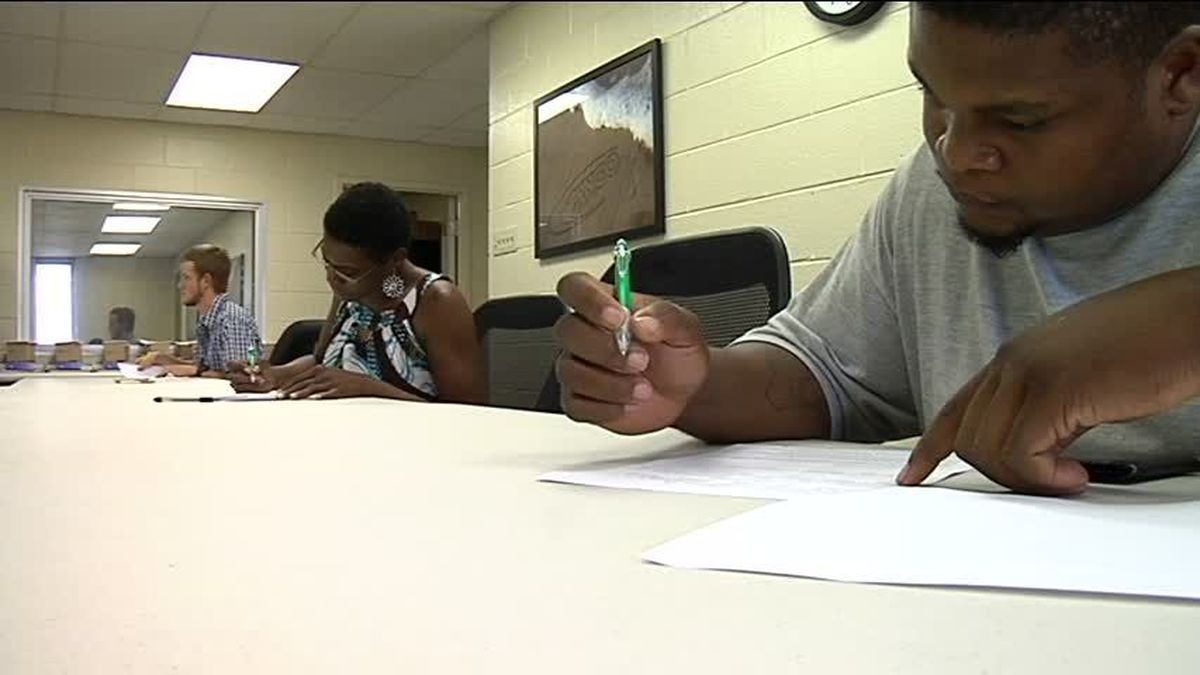 Hundreds came out to apply at the Tango Transport job fair, and the application process isn't...