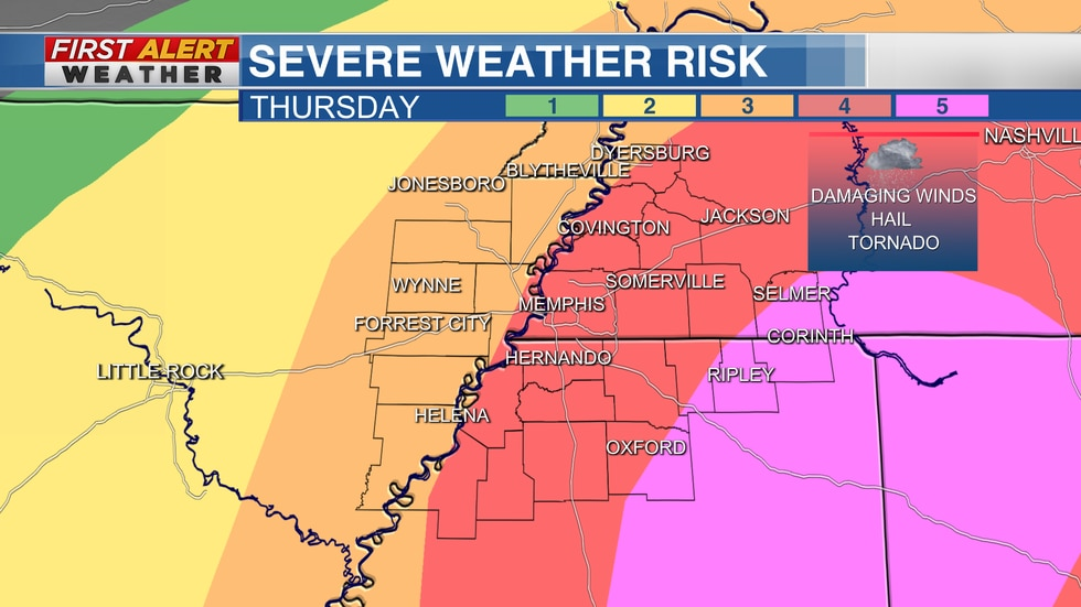 SPC Risk of severe weather
