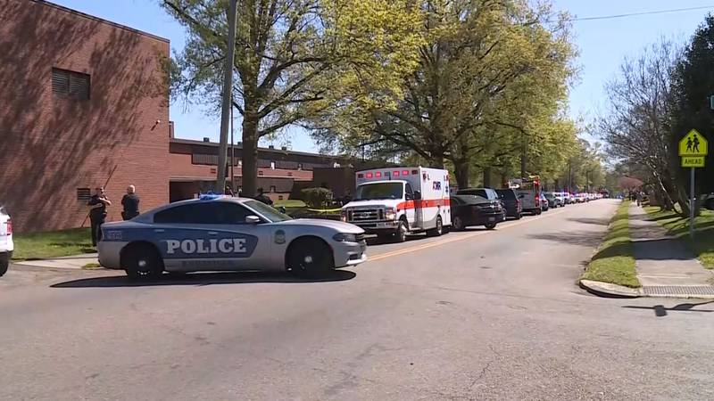 Knoxville Police at scene of school shooting