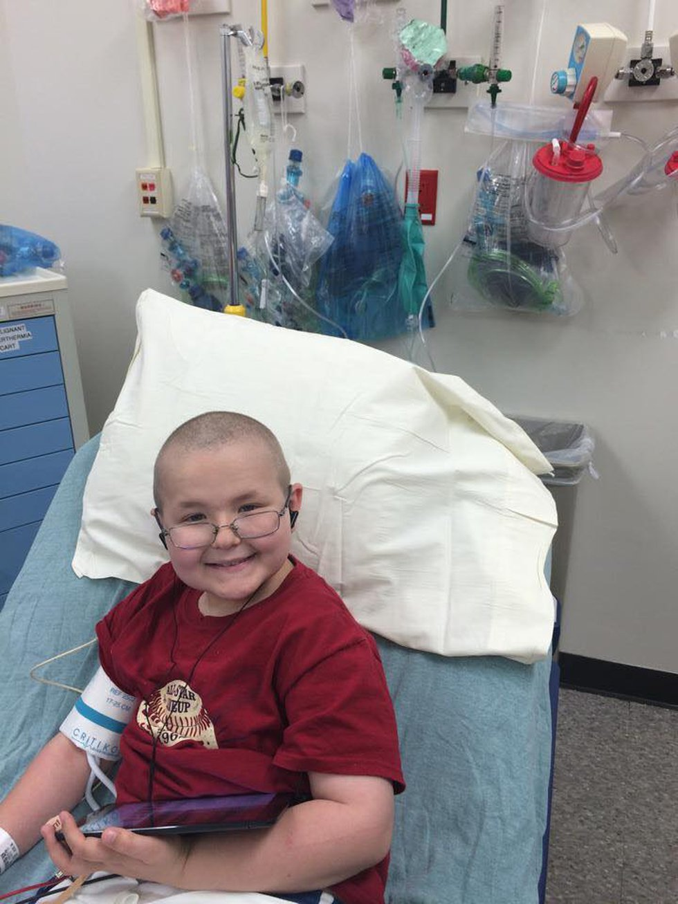 Tyler was treated at St. Jude and is thriving today.
