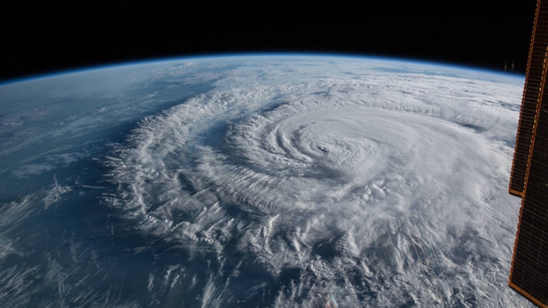 This Sept. 14, 2018, image shows Hurricane Florence making landfall close to Wrightsville Beach...