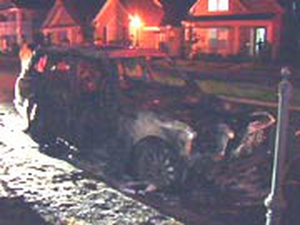 The Range Rover was destroyed.