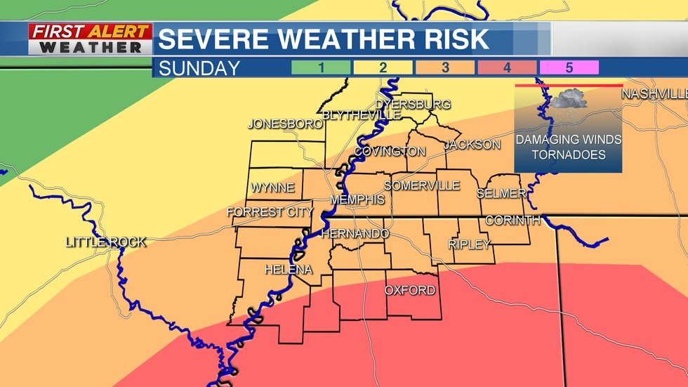 First Alert Weather Day for Easter Sunday across the Mid-South