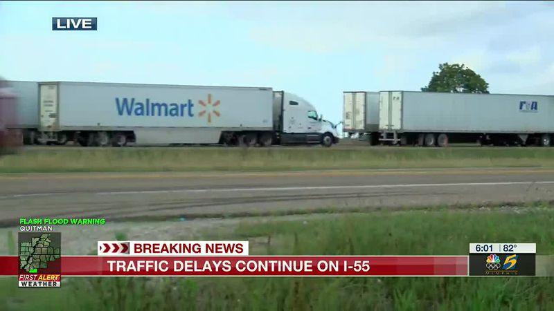 Traffic Alert: Tractor trailer crash on I-40 EB causes more delays on I-55