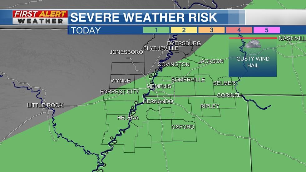 Severe Weather Risk Area for Thursday