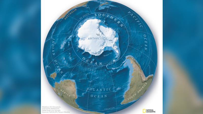 National Geographic announced Tuesday that it is officially recognizing the Southern Ocean as...