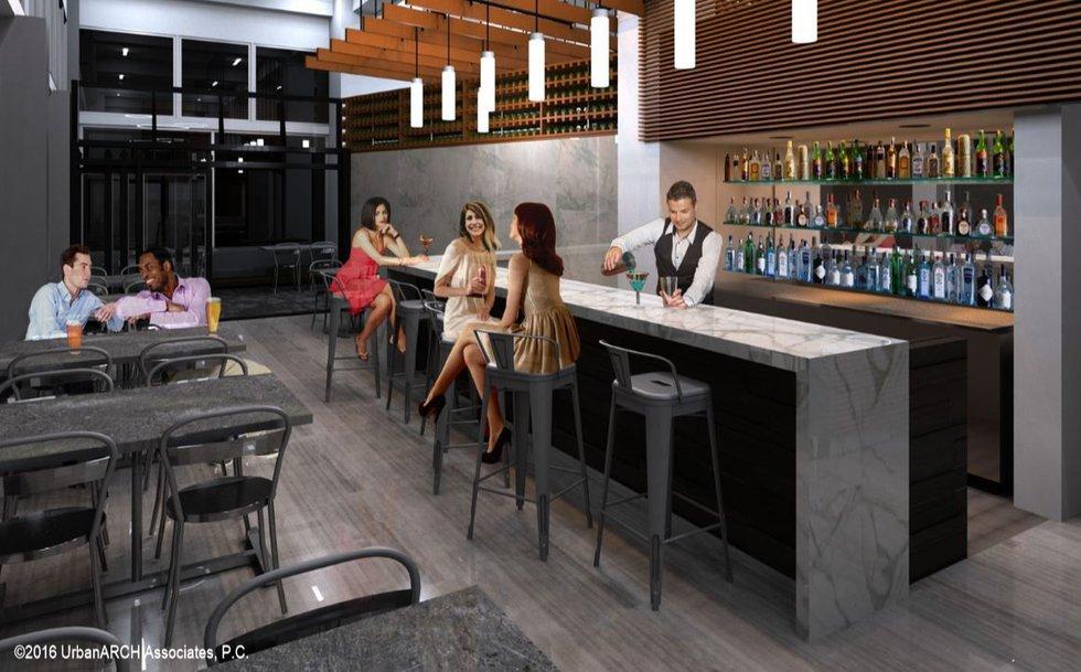 The restaurant was originally conceived as a tapas and wine bar. (Source: UrbanARCH Associates)