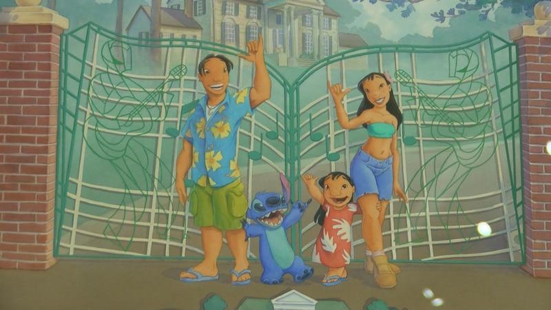 "Original artwork for ""Lilo and Stitch"" at Walt Disney Archives at Graceland."