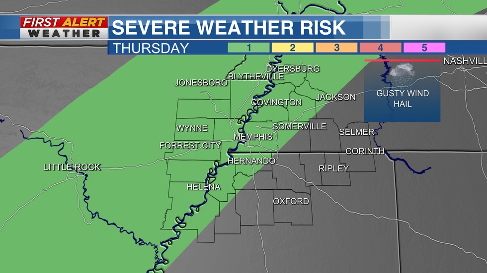 Marginal Risk on Thursday from The Storm Prediction Center