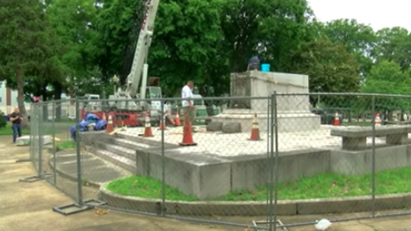 Removal of Nathan Bedford Forrest's remains underway at Memphis park