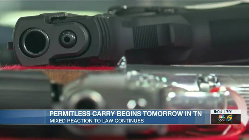 Permitless carry takes effect Thursday in Tennessee as mixed reaction continues