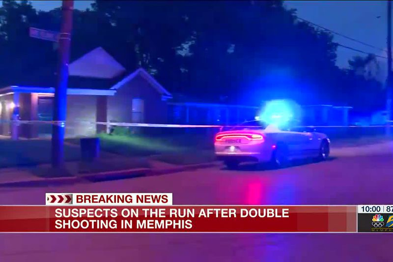 Suspects on the run after double shooting