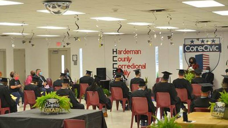 25 Student-Inmates Graduate at CoreCivic's Hardeman Facility